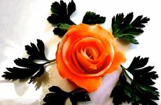 Прикраси з овочів для святкового столу